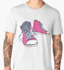 Pink Hi-top Sneakers Men's Premium T-Shirt