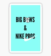 Big Bows & Nike Pros Sticker