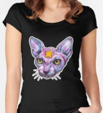 Star Cat Women's Fitted Scoop T-Shirt