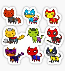 CAT AVENGERS  Sticker