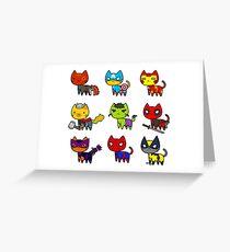 CAT AVENGERS Grußkarte
