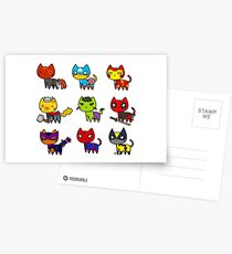 CAT AVENGERS  Postcards