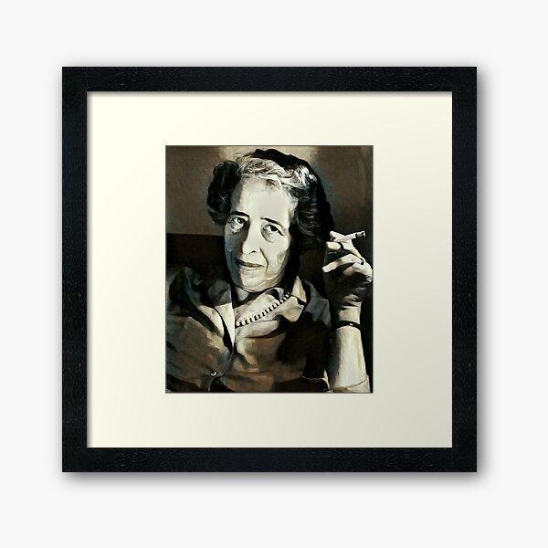Hannah Arendt - stylized Framed Art Print