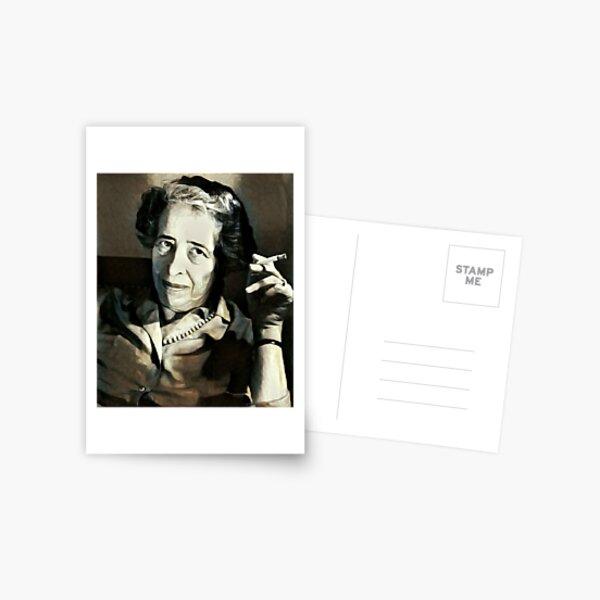 Hannah Arendt - stylized Postcard