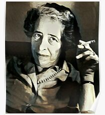 Hannah Arendt - stylized Poster