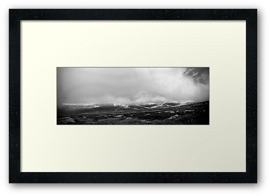 Snowy Mountains Panorama by James Thomas
