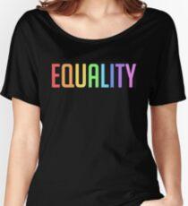 Camiseta ancha para mujer IGUALDAD - ARCO IRIS DEL ORGULLO GAY