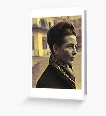 Simone de Beauvoir - stylized Greeting Card