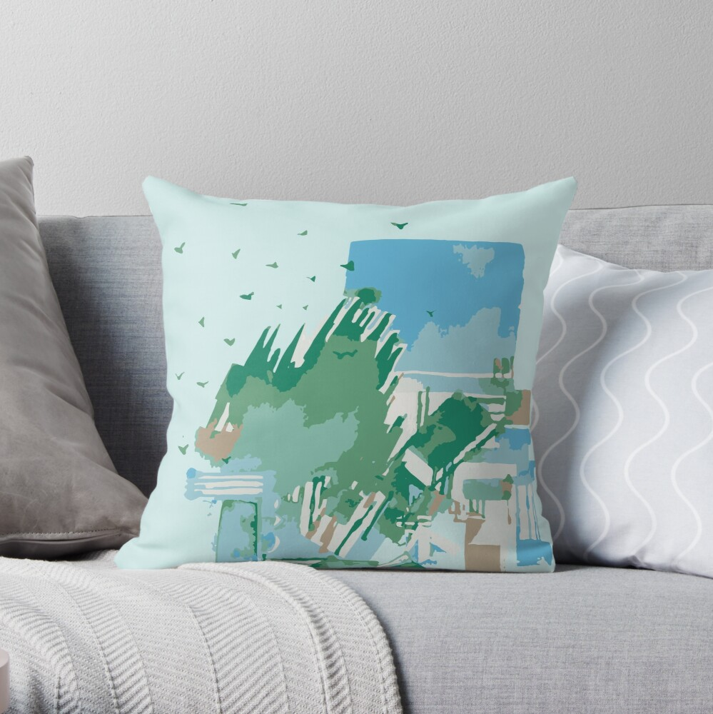 Abstract Cityscape 2 Throw Pillow