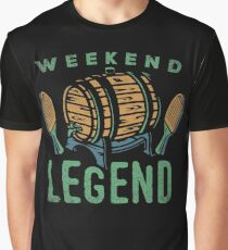 Weekend Legend Tee Shirts Love All Things Beer And Ping Pong T-Shirt Graphic T-Shirt