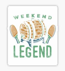Weekend Legend Tee Shirts Love All Things Beer And Ping Pong T-Shirt Sticker