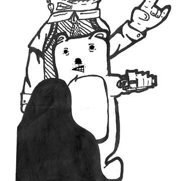 Eyeman and gangsta bear by AlexEarley