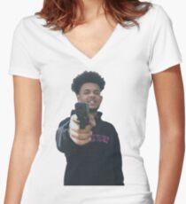 Smokepurpp Women's Fitted V-Neck T-Shirt