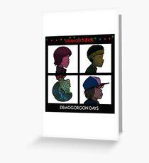 Stranger Things - Gorillaz Album Cover Style Greeting Card