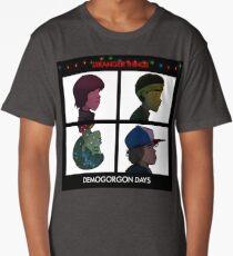 Stranger Things - Gorillaz Album Cover Style Long T-Shirt