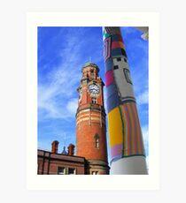 Cosy Columns 10 Art Print