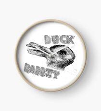 Duck or rabbit illusion design Clock