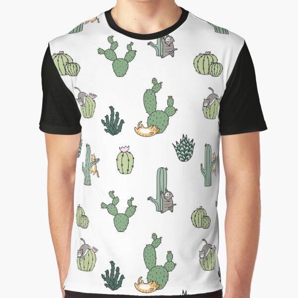 Cacti Cats Graphic T-Shirt