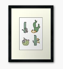 Cacti Cats Framed Print