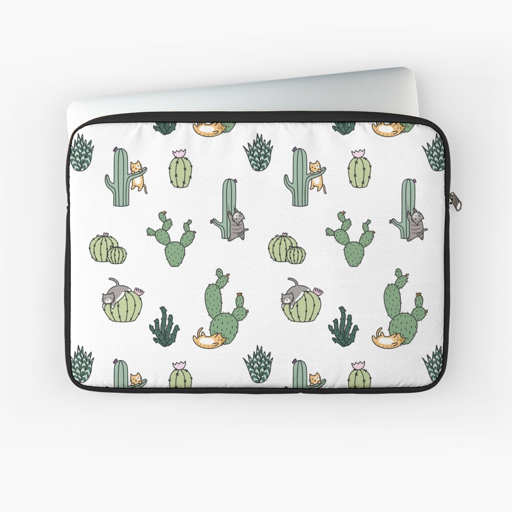 Cacti Cats Laptop Sleeve