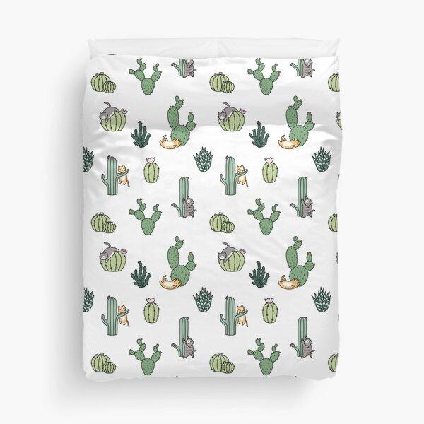 Cacti Cats Duvet Cover