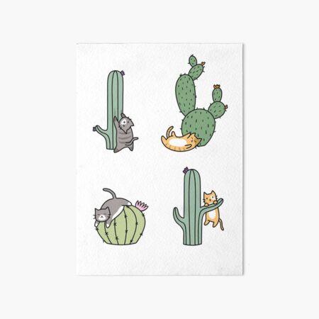 Cacti Cats Art Board Print