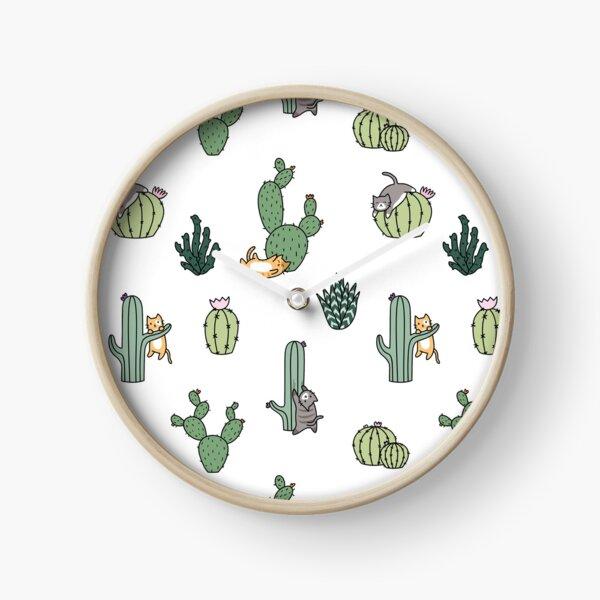 Gatos De Cactus Reloj