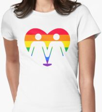 GAY PRIDE FLAG LESBIAN COUPLE Womens Fitted T-Shirt
