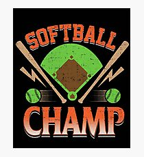 Softball Champ T-Shirts For Slow Or Fast Pitch Game Players T-Shirt Photographic Print