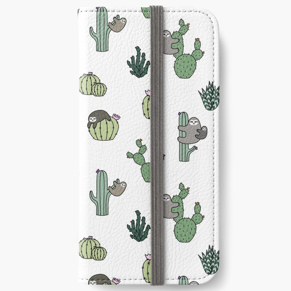 Cacti Sloths iPhone Wallet