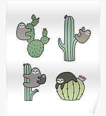 Cacti Sloths Poster