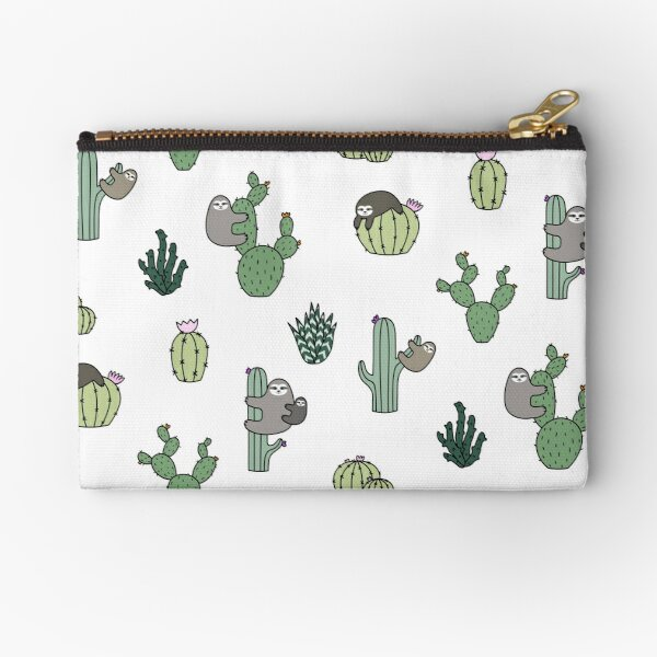 Cacti Sloths Zipper Pouch