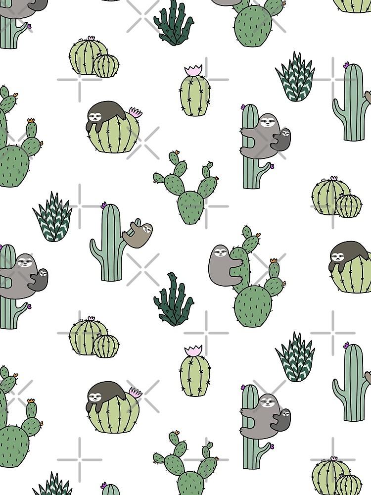 Cacti Sloths by Shopzoki