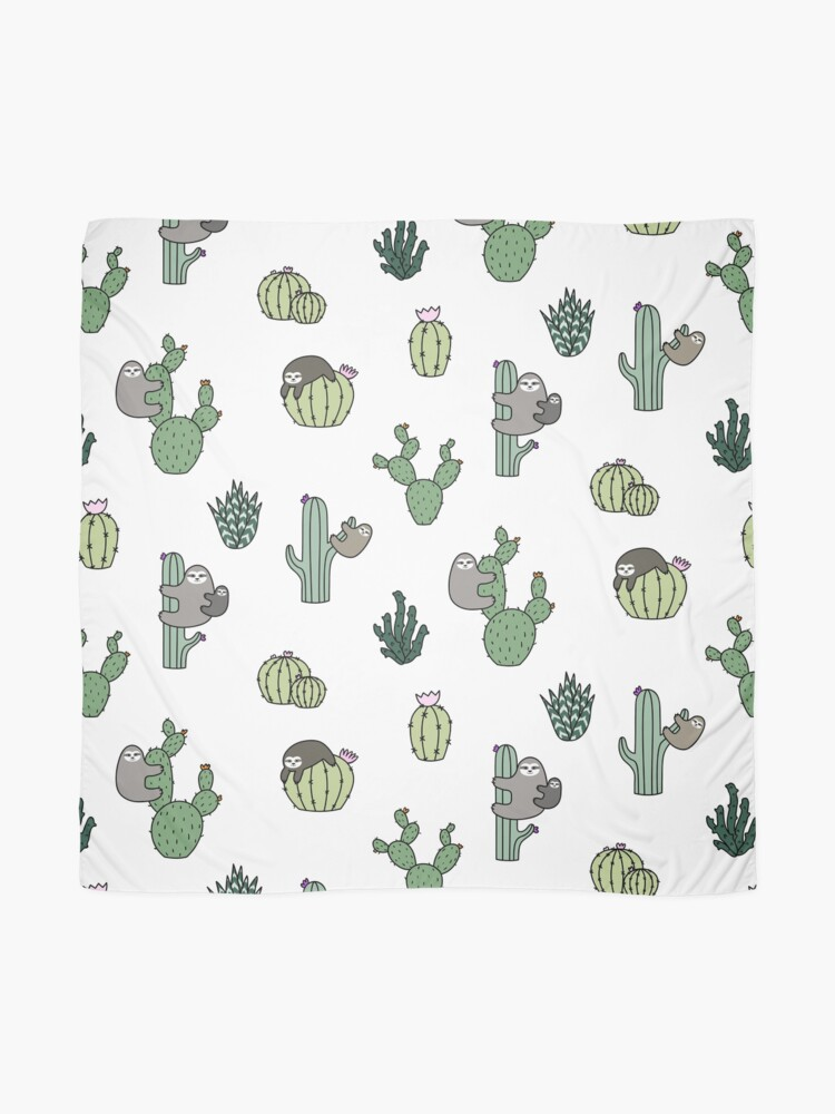 Alternate view of Cacti Sloths Scarf