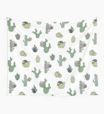 Cacti Sloths Wall Tapestry