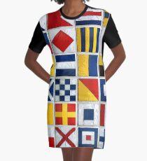 nautical flags Graphic T-Shirt Dress