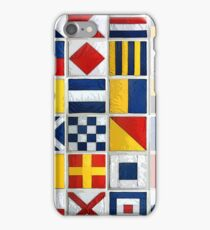 nautical flags iPhone Case/Skin