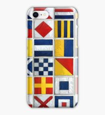 nautical flags iPhone Case/Skin