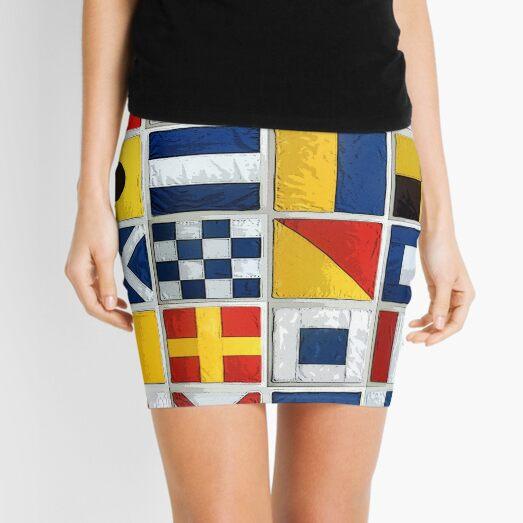 nautical flags Mini Skirt
