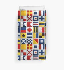 nautical flags Duvet Cover