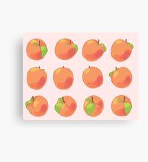 Peach Spin Canvas Print