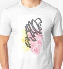 Pinky Yellow | Aquarell Abstrakte Kunstdrucke | Abstraktes Design Unisex T-Shirt