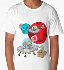 Space Cats Long T-Shirt