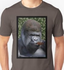Cigar smoking gorilla Unisex T-Shirt