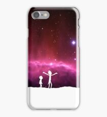 Rick and Morty frickin' bastards (white) iPhone Case/Skin