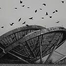 Abandoned Alien Space Craft by Mark Baldwyn