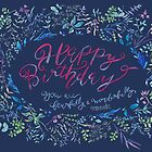 Birthday- Fearfully wonderfully made- darkblue by noori hantaylor