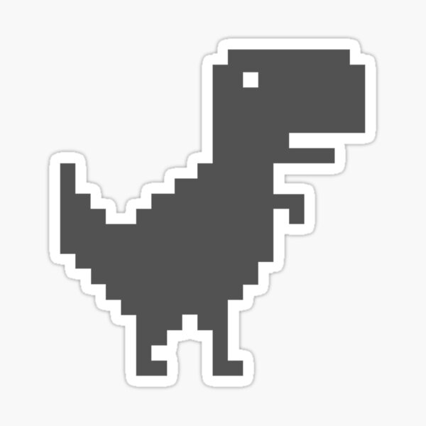 Chrome T-Rex Sticker