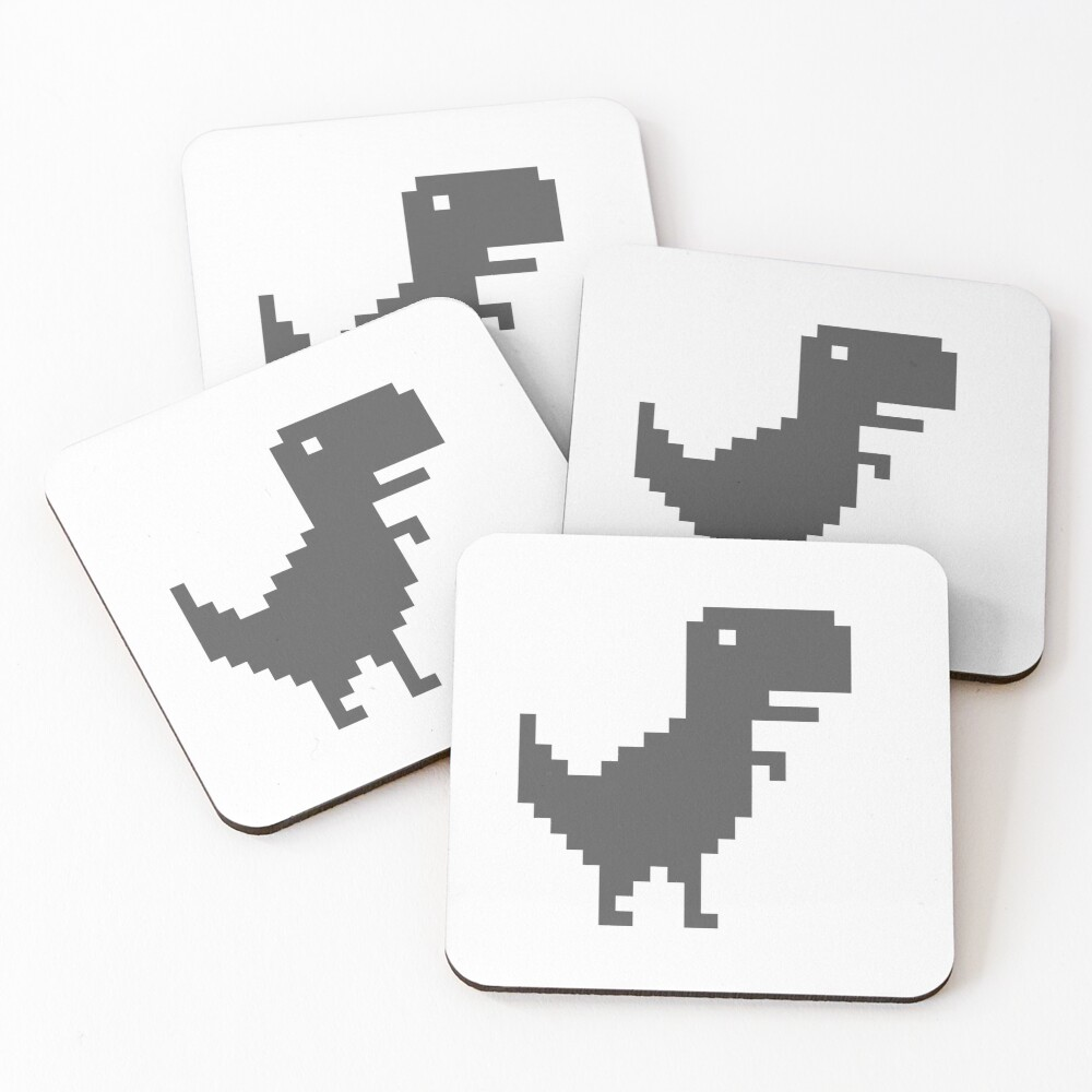 Chrome T-Rex Coasters (Set of 4)