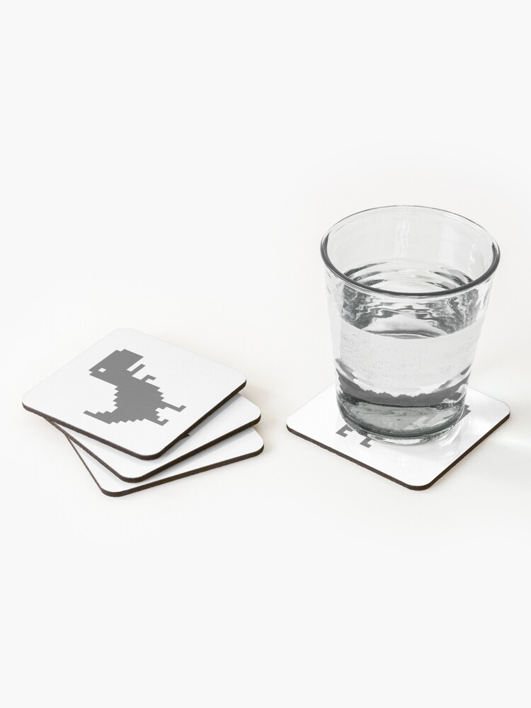 Alternate view of Chrome T-Rex Coasters (Set of 4)